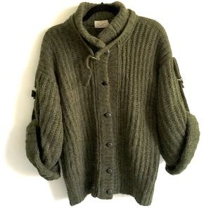 VINTAGE Eatons Wool Mohair Chunky Knit Cardigan M